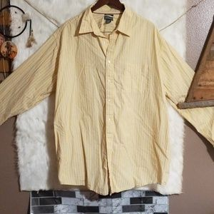 Men's long sleeve button down size 3X large